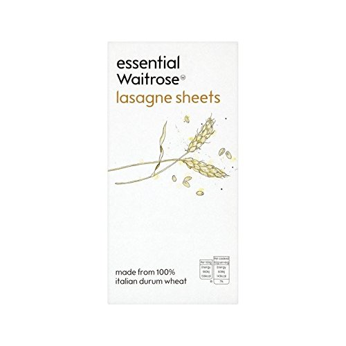 Lasagne Pasta Sheets essential Waitrose 375g - Pack of 6