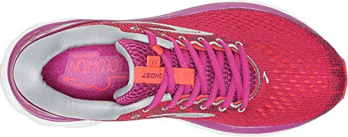 Brooks Women's Ghost 11 Aster/Diva Pink/Silver 5 B US by Brooks (Image #1)