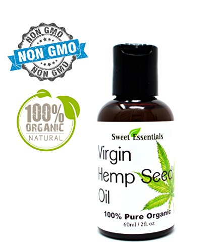 ned Hemp Seed Oil (Food Grade) 2oz | Cannabis Sativa | Imported From Canada | 100% Pure Cold Pressed | Offers Relief From Dry & Cracked Skin, Eczema, Psoriasis, Dermatitis, Rosacea ()
