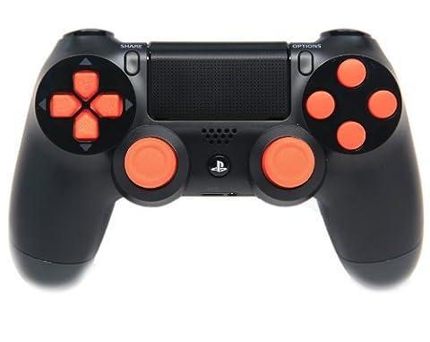 Black/Orange Ps4 Rapid Fire Custom Modded Controller 35 Mods COD BO2, BO3, Advanced Warfare, Destiny, Ghosts Quick Scope Auto Run Sniper Breath and (Bo2 Ps4)