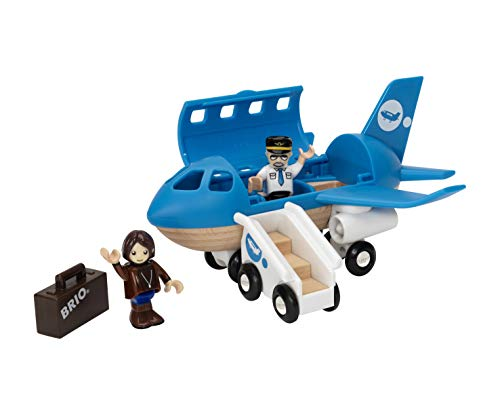 BRIO World - 33306 Airplane | 5 Piece Wooden Airplane Toy