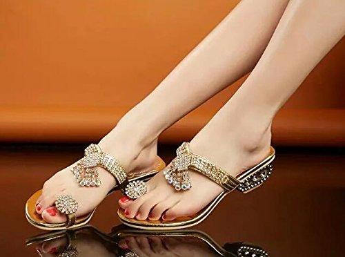 2016 or diamant 1 été femme sandales creux Tnw0BTfqr