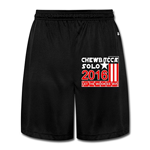 M07H Men's New Chewbacca Solo 2016 Running Pants Black Size XL
