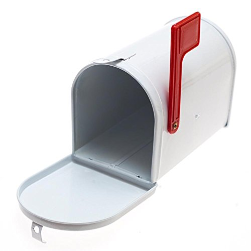 One White Tinplate Mailbox (Mini Mailbox)