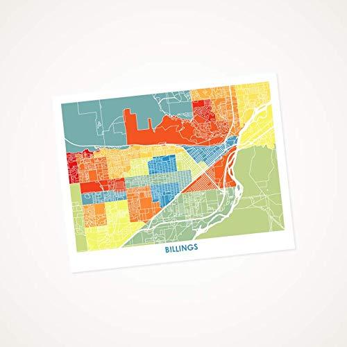Amazon.com: Billings Montana Art Map Print. Choose your Colors and ...