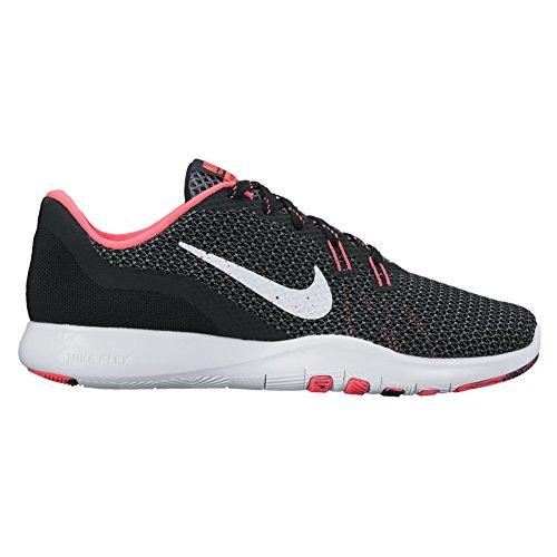 Allenatore Flex Nike Womens 7 Bts Cross Trainer Nero / Bianco / Rosa Da Corsa / Grigio Scuro