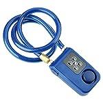 41W57Evob0L. SS150 Lucchetto a Catena Intelligente, Bluetooth 4 Lucchetto di Allarme Antifurto Senza Chiave Impermeabile Senza Chiave per…