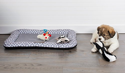 Bone Dry DII Small Rectangle Lattice Kennel & Crate Padded Pet Mat, 17x22 for Dogs or Cats-Gray by Bone Dry (Image #4)