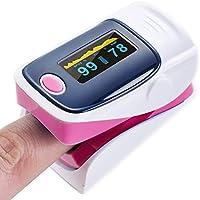 Orantech Oxímetro de Pulso y Monitor de Frecuencia Cardíaca con Pantalla OLED Color Portatil Pulsioxímetro con Alarma 4 Direcciones Ajustable para Adultos y Niños
