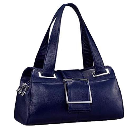 Vachette Blue Shopping Cuir Main Bandoulière Sacs Sac Pour À En De Beau Femme Provisions qfOa7OSw