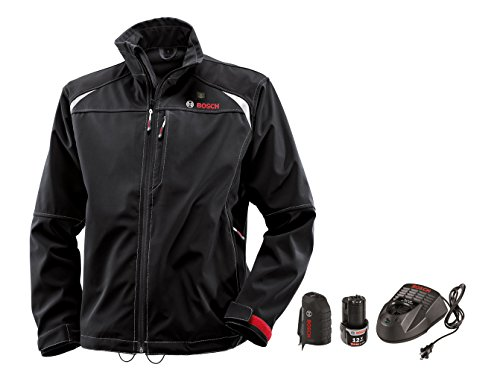 Bosch PSJ120L-102 Men's 12-volt Max Lithium-Ion Soft Shell Heated Jacket Kit with 2.0Ah Battery, Charger and Holster by Bosch (Image #1)