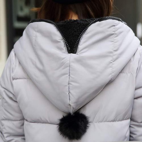 Solidi Alta Con Tasche Cerniera Laterali Lunga Cappotti Di Lunga Mantello Invernali Huixin Piumini Cerniera Donna Cappuccio Manica Con Colori Con Qualit avOxwZqH