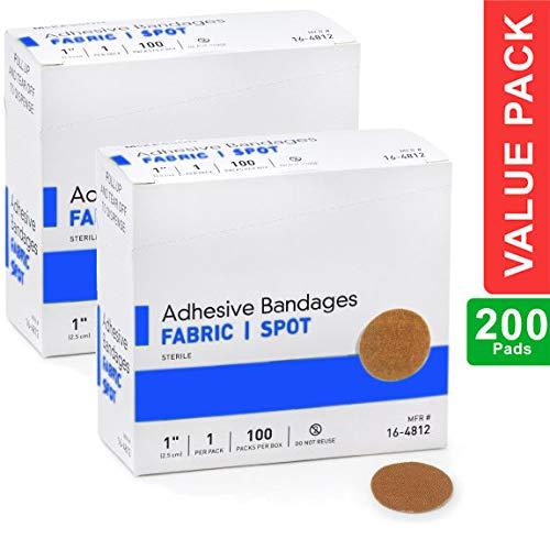Round Spot Flexible Fabric Adhesive Bandages, 1