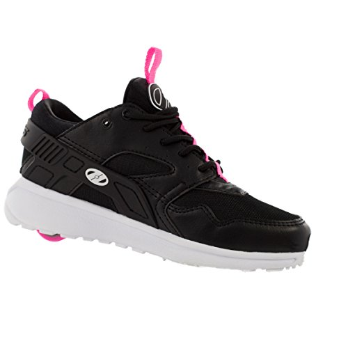 Heelys Force Skate Shoe (Big Kid/Women's) (7 B(M) US Women, Black hot Pink White) by Heelys