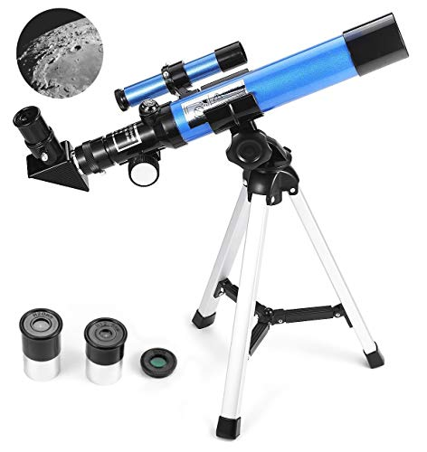 upc 611434207998 product image for MaxUSee Kids Telescope 400x40mm with Tripod & Finder Scope, Portable Telescope for Kids & Beginners, Travel Scope with Moon Mirror, Stars & Moon map Included