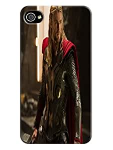 RebeccaMEI Custom Your cool fashionable Chris Hemsworth Thor Phone Case with TPU to Make Your iphone 4/4s Unique And Special