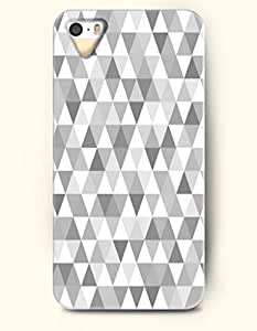 Phone Case For iPhone 5 5S Grey And White Triangles - Hard Back Plastic Case / Geometric Pattern / OOFIT Authentic