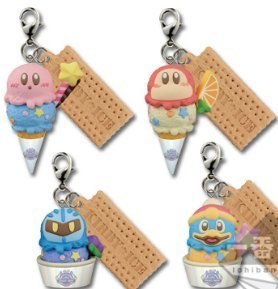 Ichiban kuji Kirby Ice Cream G Charm Key chain 4P Japan New Banpresto