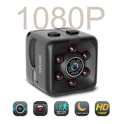 [Newest 2018] Hidden Spy Camera 1080P FullHD Home-Mini Camera Security Motion Spy Cam Night Vision Audio Mounts Sports Action Cam with Mounting Accesssories Kit