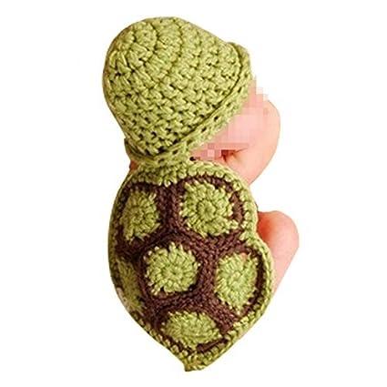 ab4ffd0d2 Tenflyer Estilo lindo de la tortuga para bebé Atrezzo fotografía del recién  nacido hecho a mano