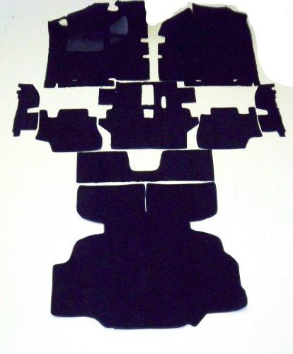 Datsun Carpet - Newark Auto 1975-1976 280Z Datsun/Nissan Black Cut Pile Replacement Carpet With 20 Ounce Padding