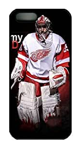 Custom Detroit Red Wings PC Black Case for iPhone 5 5S by Popcustom by kobestar