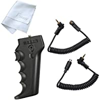 Fotasy HR-DV Ergo Handle Pistol Grip for SONY camcorders w/ A/V R or LANC, Blackmagic Cinema camera