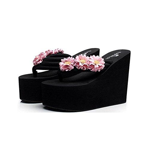 Sandales Confortables Baskets épaisses Lavande Bout à Hauts Simples Femmes Semelles de Antidérapantes à pour Été Plage Pantoufles Incliné Sandales à à CHENGXIAOXUAN Fleurs Talons Semelles 7nxS1fWOq