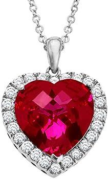 13 ct Heart Pendant Necklace