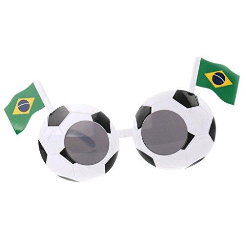 Baoblaze Unisex Football Soccer Sunglasses Party 2018 National Flags Eyeglasses Festive Holiday Match Eye Glasses - (National Costume Brazil Kids)