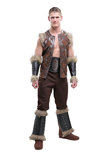 Viking Barbarian Men's Costume X-Large Brown -