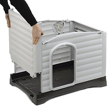 Ferplast Caseta para Perros Dogvilla 70 Talla Mediano pequeño Hecha de plástico con Techo Desmontable: Amazon.es: Productos para mascotas