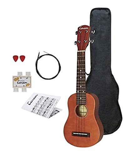 Tenson F502820 - Ukelele soprano, color marrón