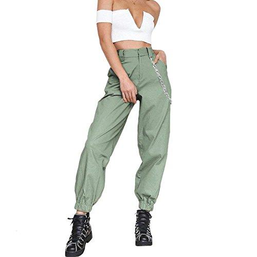 Gr High Trousers Primaverile Pants Libero Semplice Matita Eleganti Estivi Fidanzato Donna Glamorous Tendenza Pantaloni Lunghe Pantalone Fashion Monocromo Tempo Harem Haidean Waist wTx16x