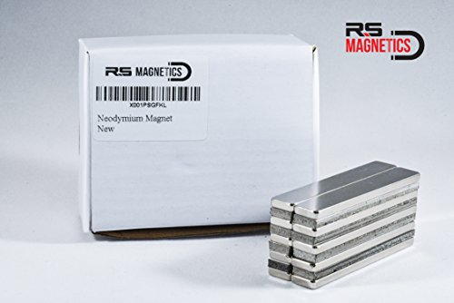 RS Magnetics   Strong Neodymium Bar Magnets   Powerful & Thin Rare Earth N52 Magnet   Small 60mm x 10mm x 3mm Magnets   10 Pack by RS Magnetics (Image #3)