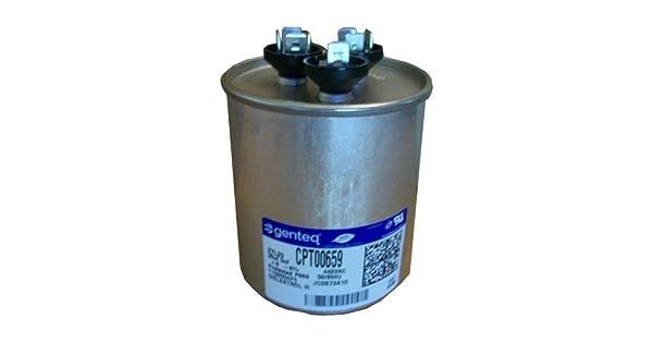 43-26261-20 5 UF//MFD 440 Volt Ruud OEM Round Replacement Dual Run Capacitor 60