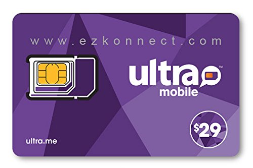 Ultra Mobile triple punch Regular, Micro and Nano all in one SIM Card + $29 Plan free by EZKonnect