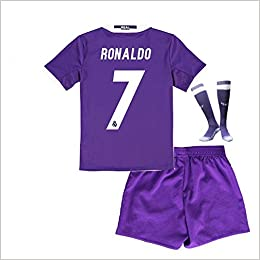 brand new b0656 856e0 Real Madrid 2017 Soccer Jerseys Uniform Purple Ronaldo No.7 ...