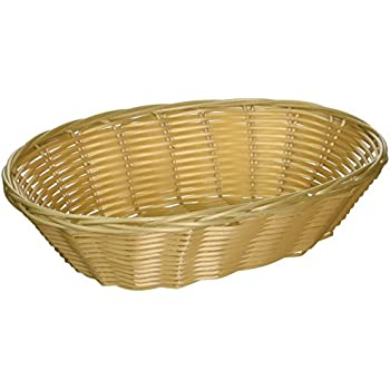 amazon com set of 12 woven and bread natural color basket oval