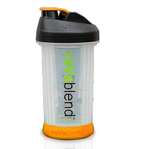 Cheap Revablend Non-Electric Hand Powered Portable 16 oz BPA Free Dishwasher Safe Blender Bottle (Orange)