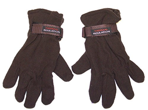 - Adult Size Thermal Insulation Solid Winter Wear Gloves (Brown)
