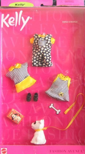 Barbie KELLY YIPES STRIPES Fashion Avenue Clothes (1999)