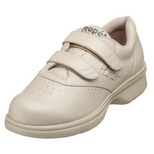 Propet Women's W3915 Vista Walker Sneaker,Bone Smooth,9 W (US Women's 9 D)