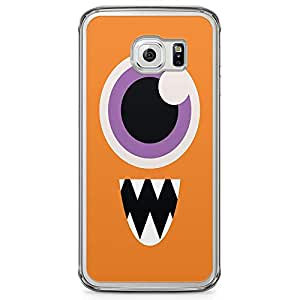 Loud Universe Scary Monster Samsung S6 Edge Case Orange Monsters Inc Samsung S6 Edge Cover with Transparent Edges