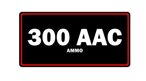 JS Artworks 300 AAC Blackout Ammo Label Can Vinyl Sticker Decal