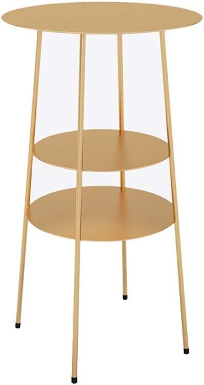 Adviseren Multifunctionele Simple Storage Kleine Ronde Tafel Multi-layer Metal End Tables, 40X40X62CM 4.11 (Color : Black) Gold bqnQW4g