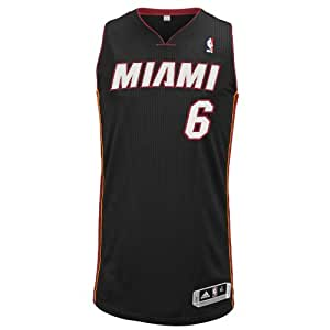 NBA Miami Heat Authentic Jersey LeBron James #6, Large