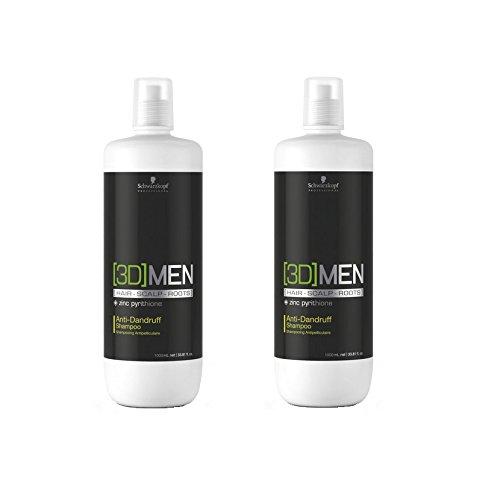 Schwarzkopf 3D Men Anti-Schuppen-Shampoo 2 x 1000 ml Hair-Scalp-Roots