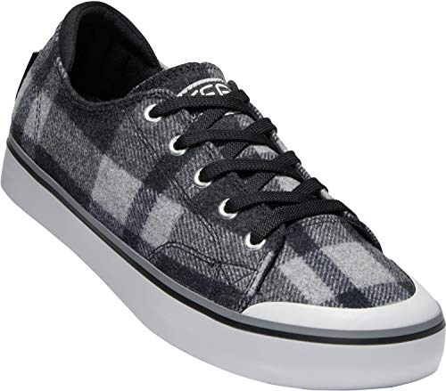 KEEN - Women's Elsa III Canvas Sneaker for Casual Everyday Use, Black Plaid/Black, 7.5 M - Tartan Tights