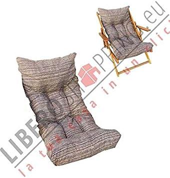 LIBEROSHOPPING.eu LA TUA CASA IN UN CLICK Cuscino Imbottito di Ricambio per Poltrona Sedia Sdraio Harmony Relax Bordeaux 105x55x14cm